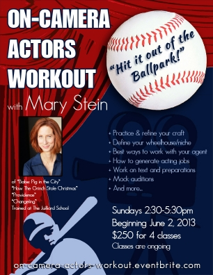 Mary Stein On-Camera Actors Workout